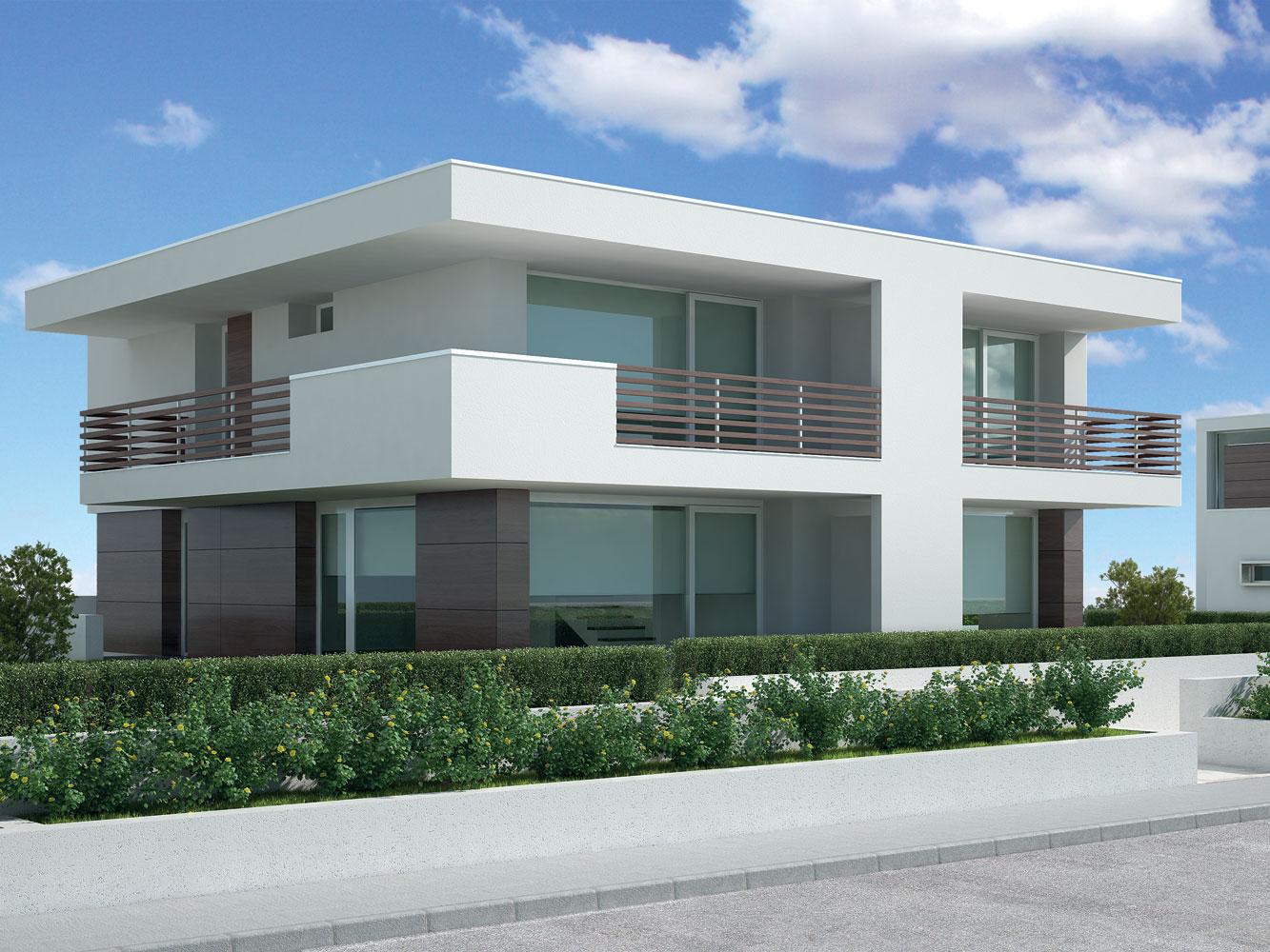 Bifamiliare c soleis for residence ville appartamenti for Piani di fattoria moderna piccoli