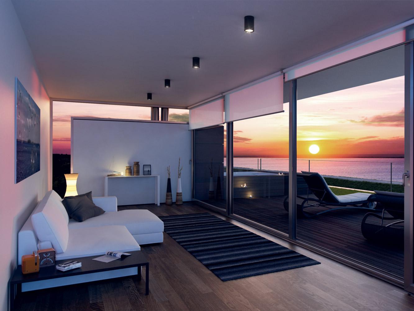 Villa e soleis for residence luxury resort in italy for Ville moderne con vetrate