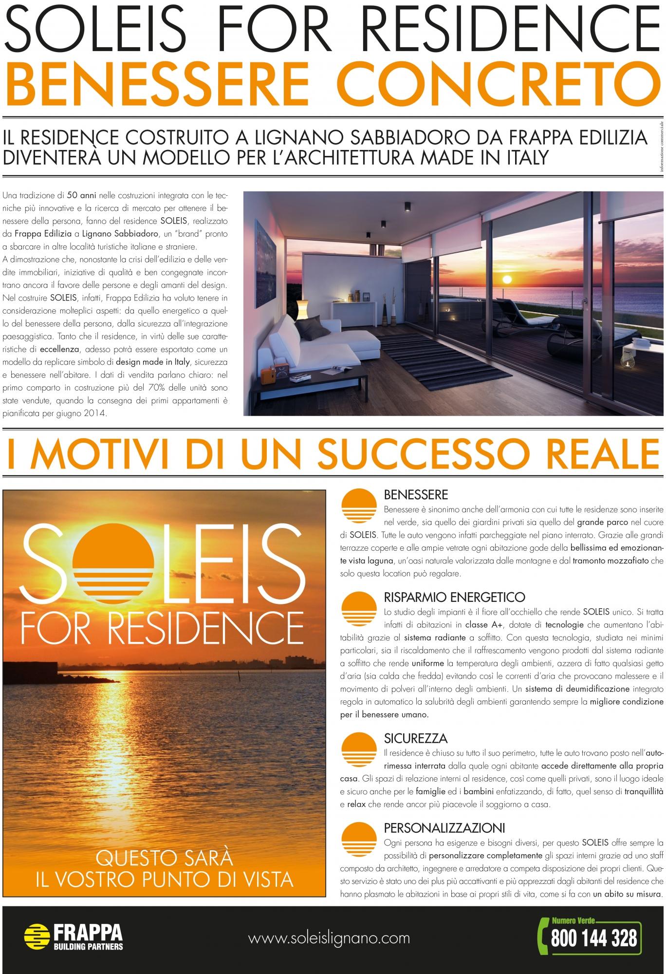 News Soleis For Residence Ville Appartamenti Attici